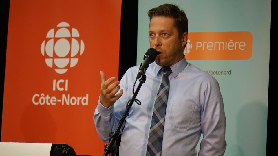 Le candidat du Parti québécois, Martin Ouellet