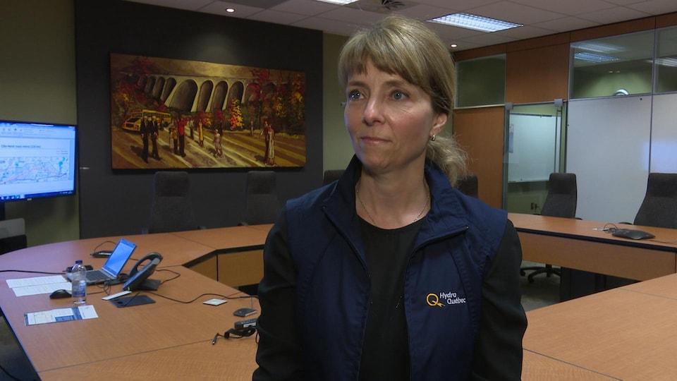 La conseillère en relations avec le milieu pour Hydro-Québec, Martine Lapierre