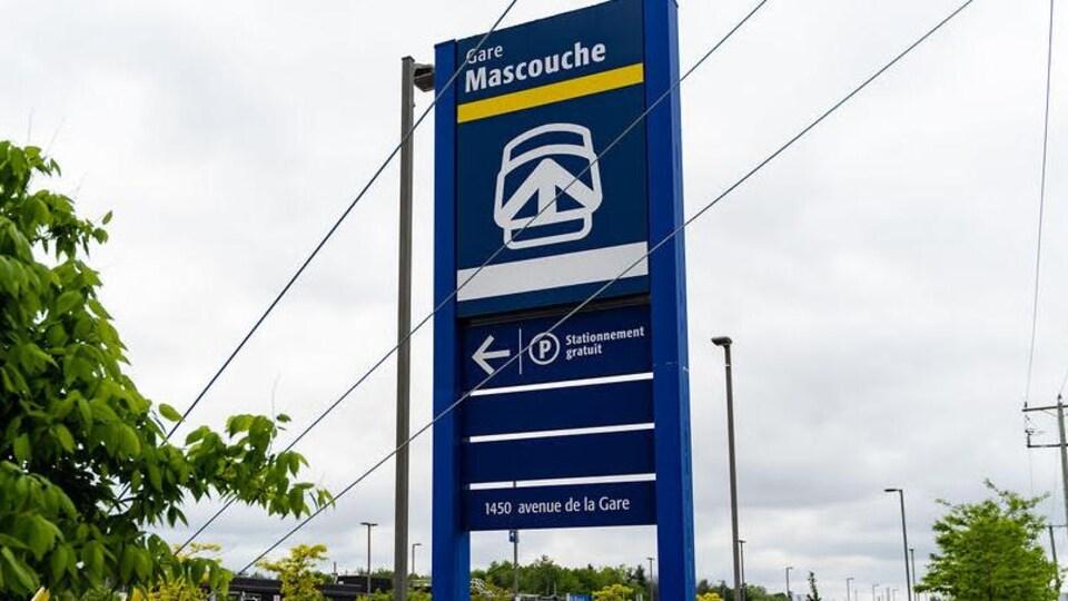 La gare de Mascouche.