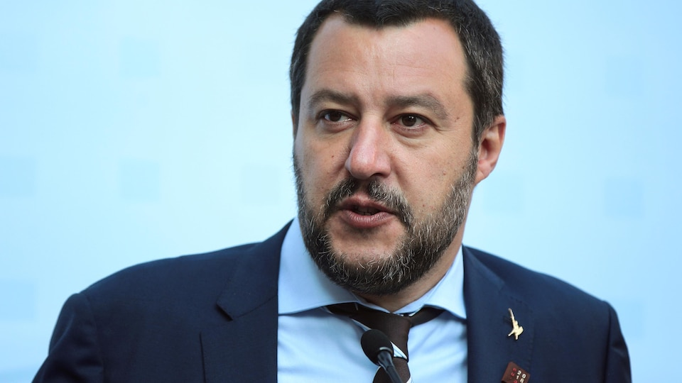 Le ministre italien de l'Intérieur, Matteo Salvini.