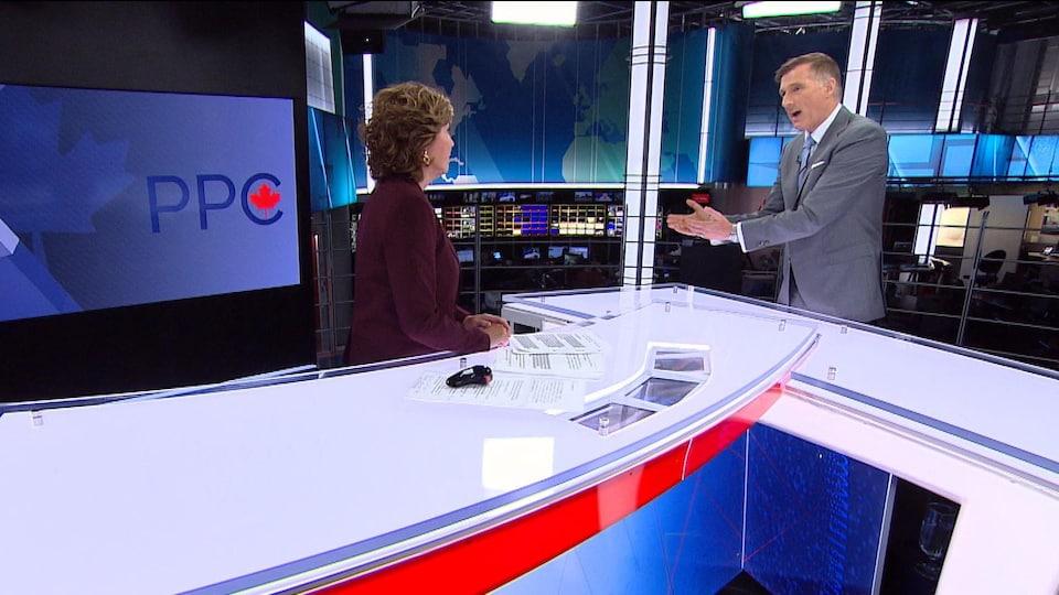 Maxime Bernier et Céline Galipeau en entrevue