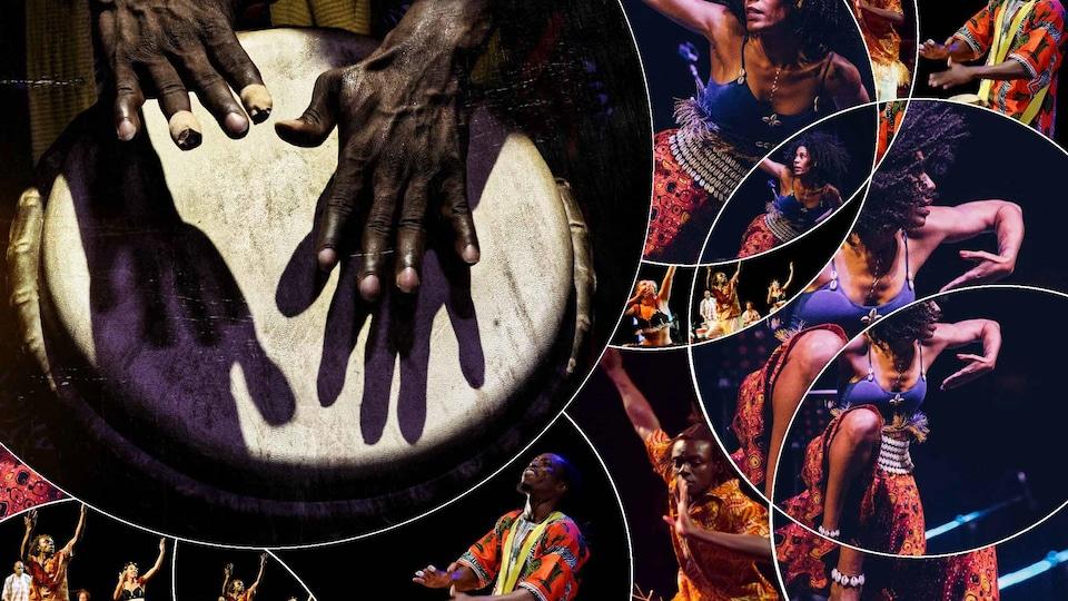 Un montage de photos présentant de la danse néo-traditionnelle.