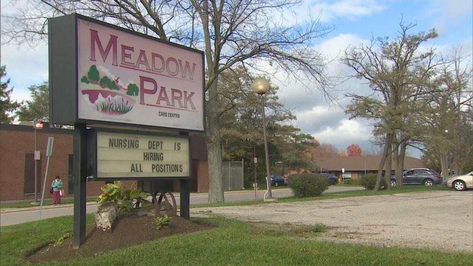 Le centre de soins de longue durée Meadow Park où Elizabeth Wettlaufer a travaillé.