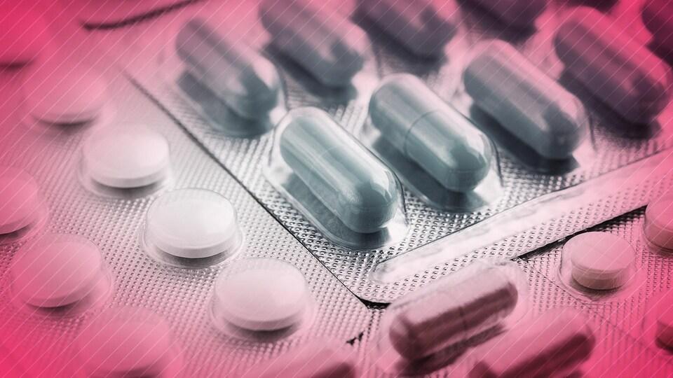 Une photo générique de médicaments