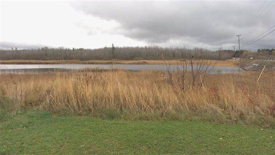 Un terrain près d'un plan d'eau