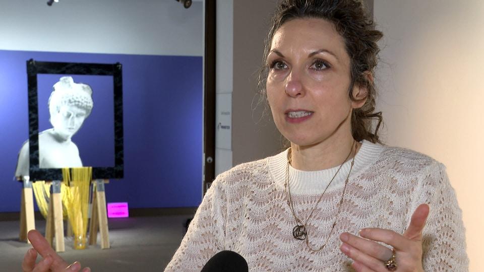 La directrice générale du Musée du Bas-Saint-Laurent Mélanie Girard.