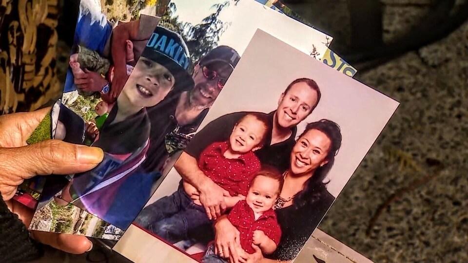 Des photos de Melissa Hance, de son conjoint Reid et de leurs enfants.