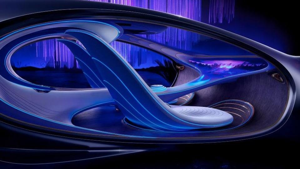 Dessin de l'intérieur de la voiture concept Mercedes-Benz Vision AVTR.