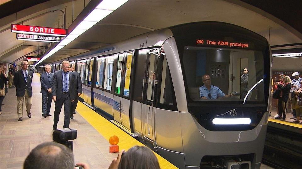 Un wagon de métro AZUR.