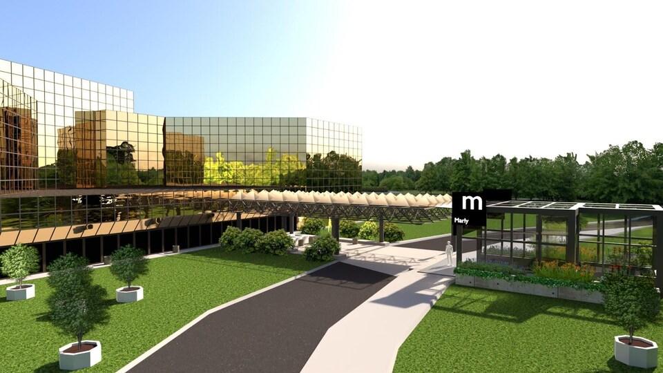 La station Marly serait située à l'une des extrémités du réseau.