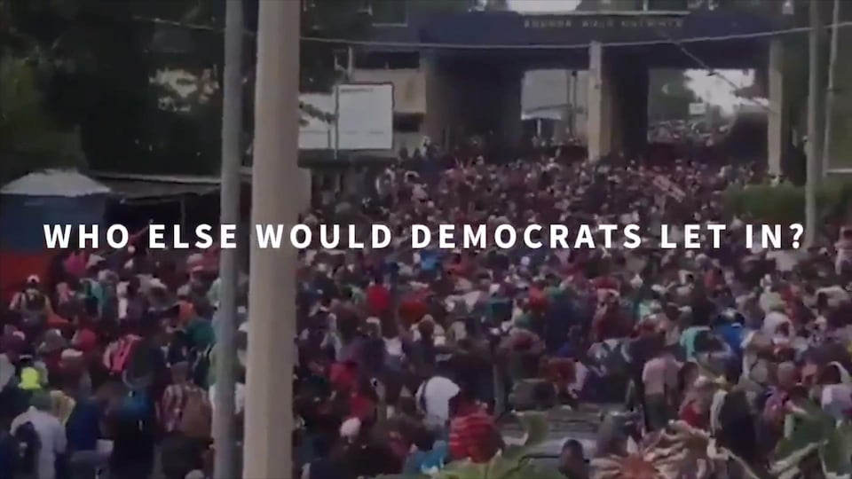 Extrait de la vidéo diffusée par le président Trump.