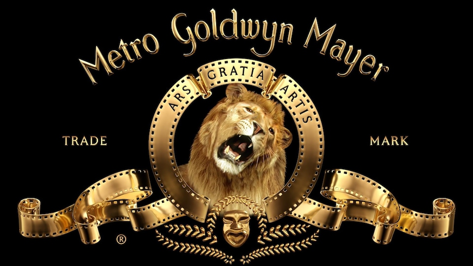 Le logo de Metro Goldwyn Mayer avec, au centre, un lion rugissant.