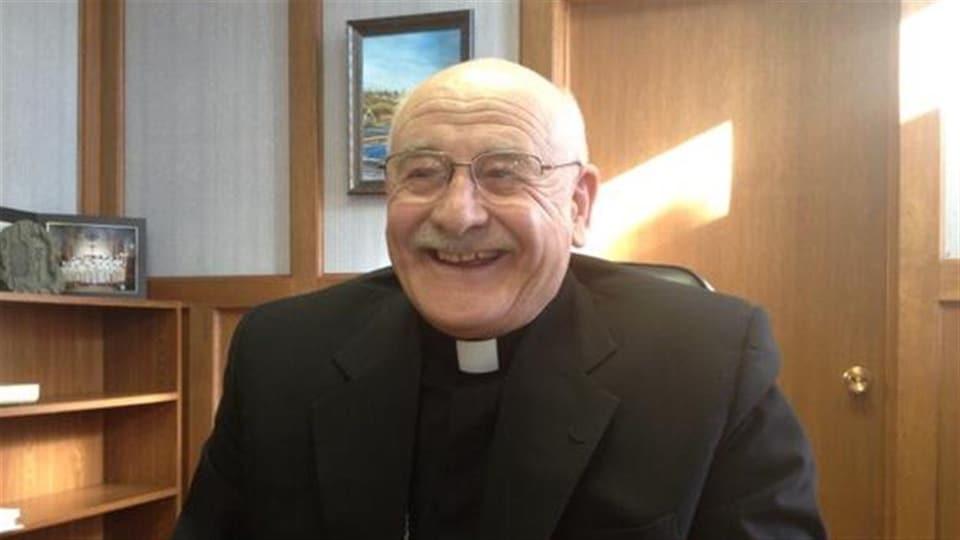 L'évêque de Prince Albert, Mgr Albert Thévenot.