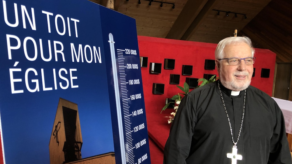 Mgr Gaétan Proulx lors du lancement de la campagne de souscription, le 19 février 2020.