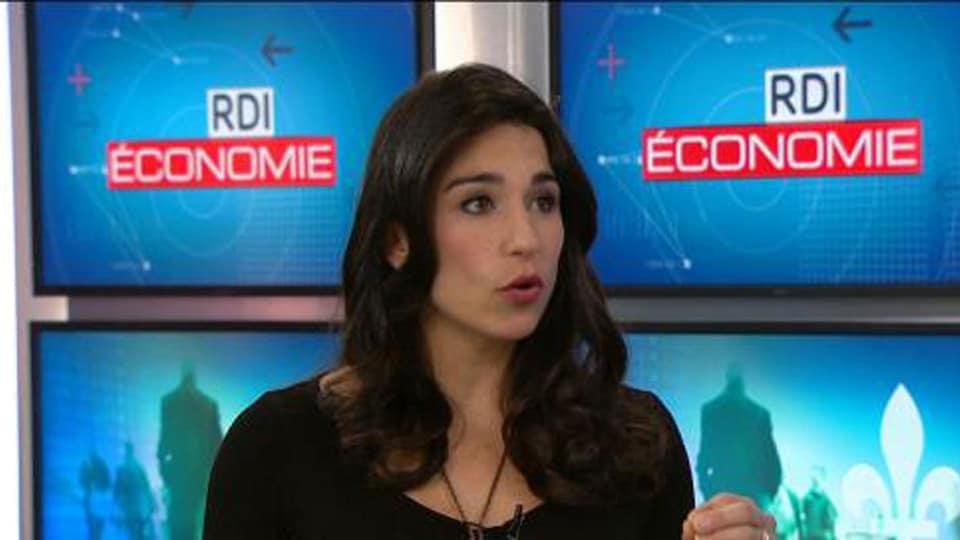 Mia Homsy sur le plateau télé de RDI économie
