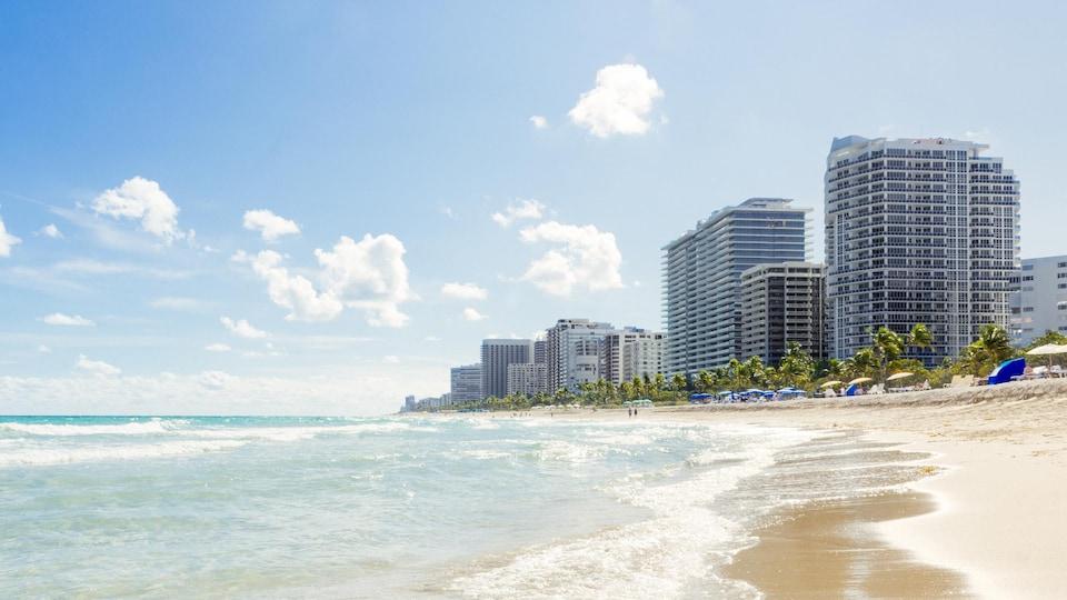 Une plage de Miami.