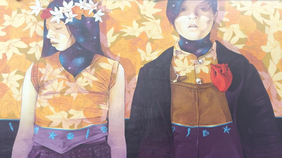 L'oeuvre d'Inti, un artiste de Valparaiso, au Chili.