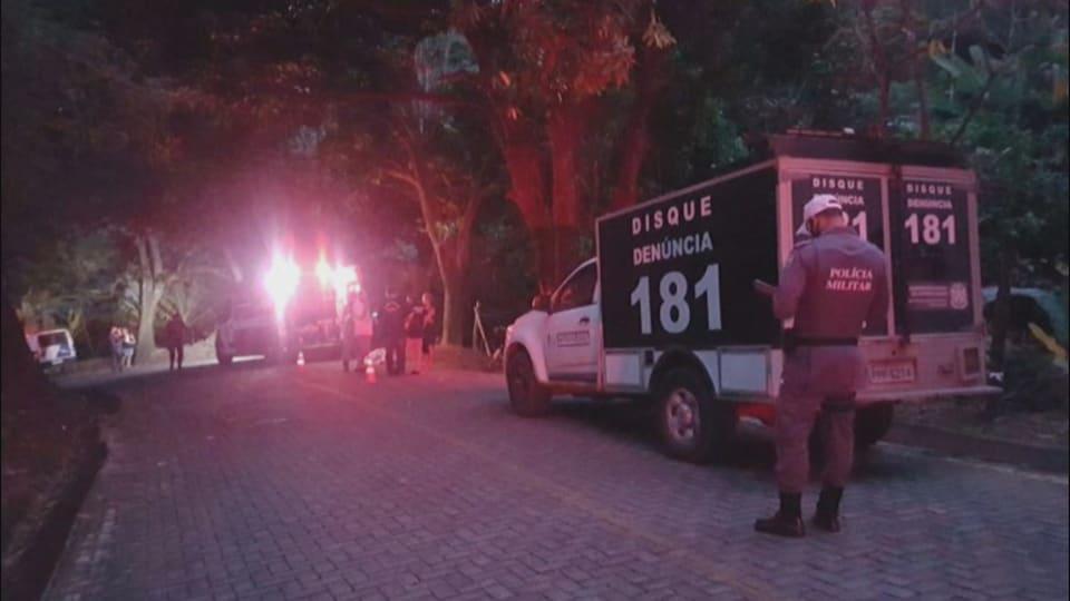 La scène de l'accident ayant causé la mort de Michel Brûlé, au Brésil.