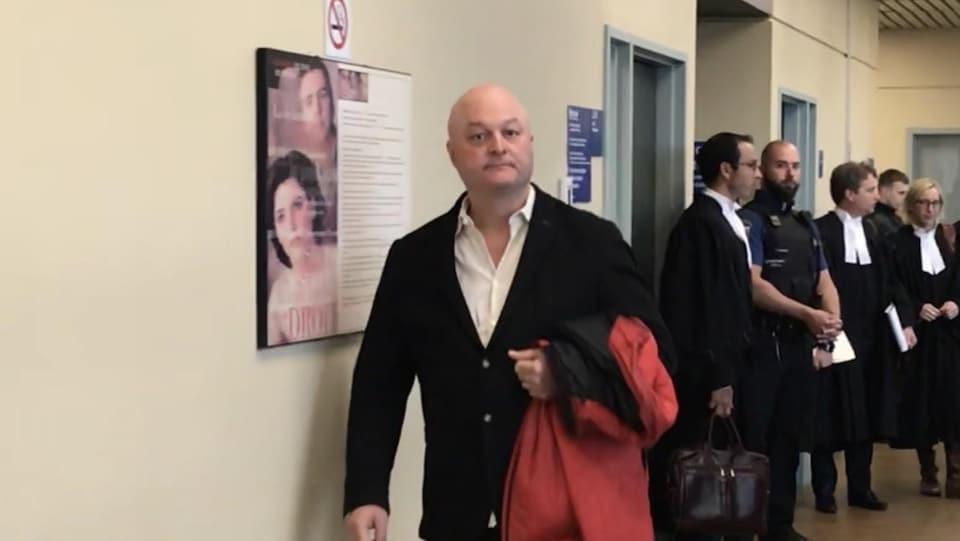 Michel Brûlé au palais de justice de Québec.