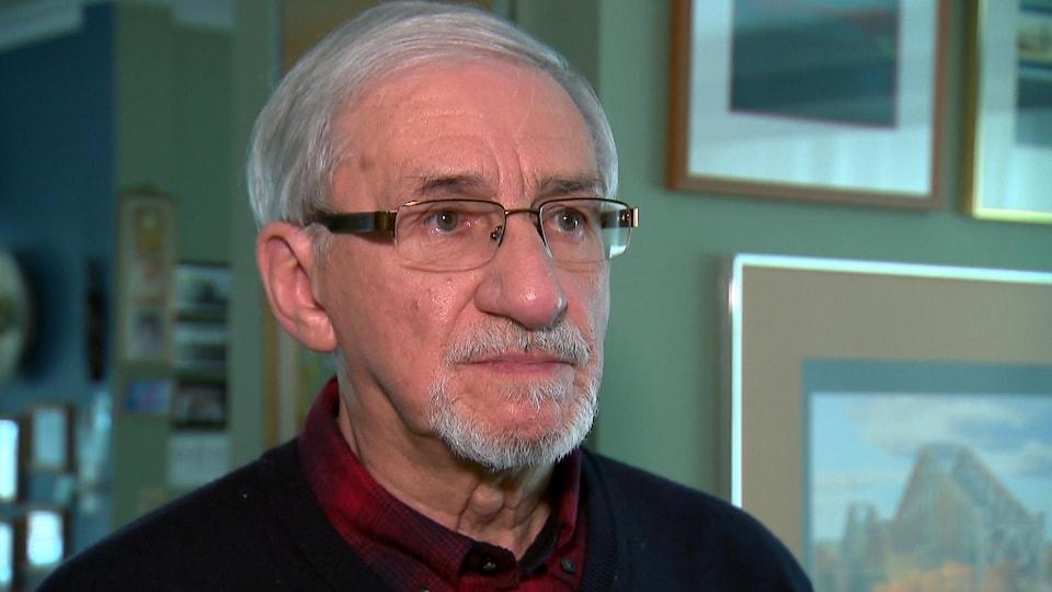 Michel L'Hébreux en entrevue à Radio-Canada