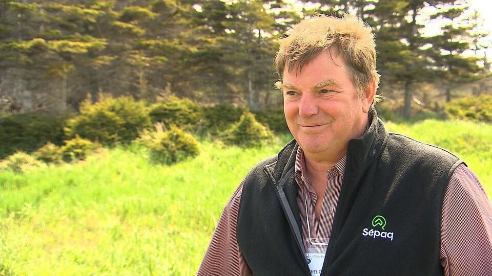 Michel Threlfall est directeur de la SÉPAQ et du parc national d'Anticosti.