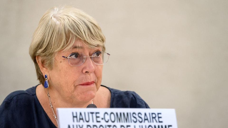 Michelle Bachelet, haute-commissaire de l'ONU aux droits de l'homme.