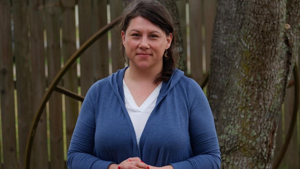 L'enseignante Ashlee Michot vit à Arnaudville, au nord de Lafayette.