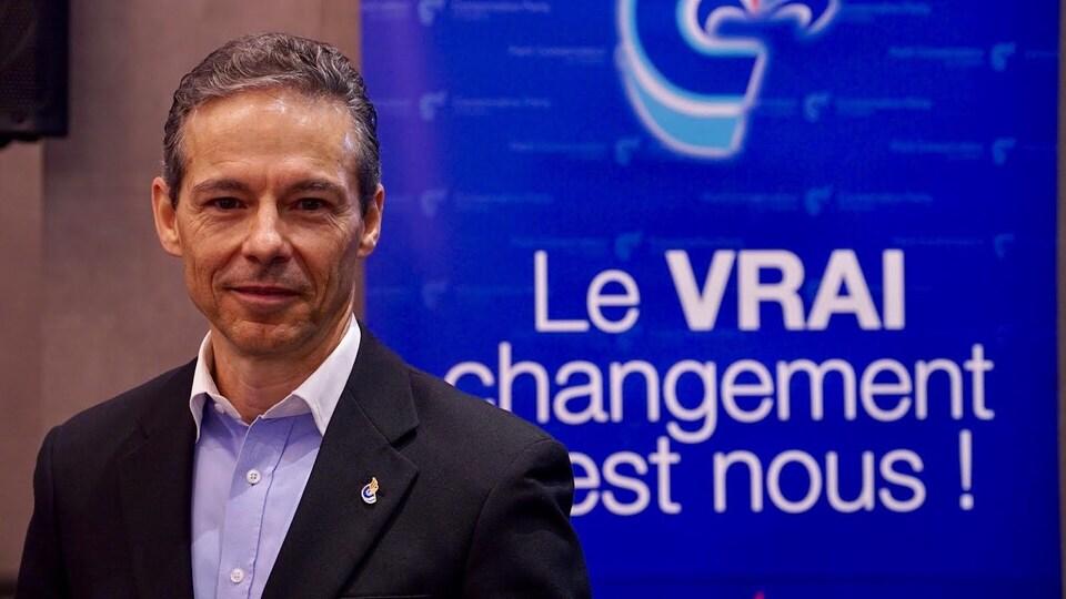 Adrien Pouliot, le chef du Parti conservateur du Québec