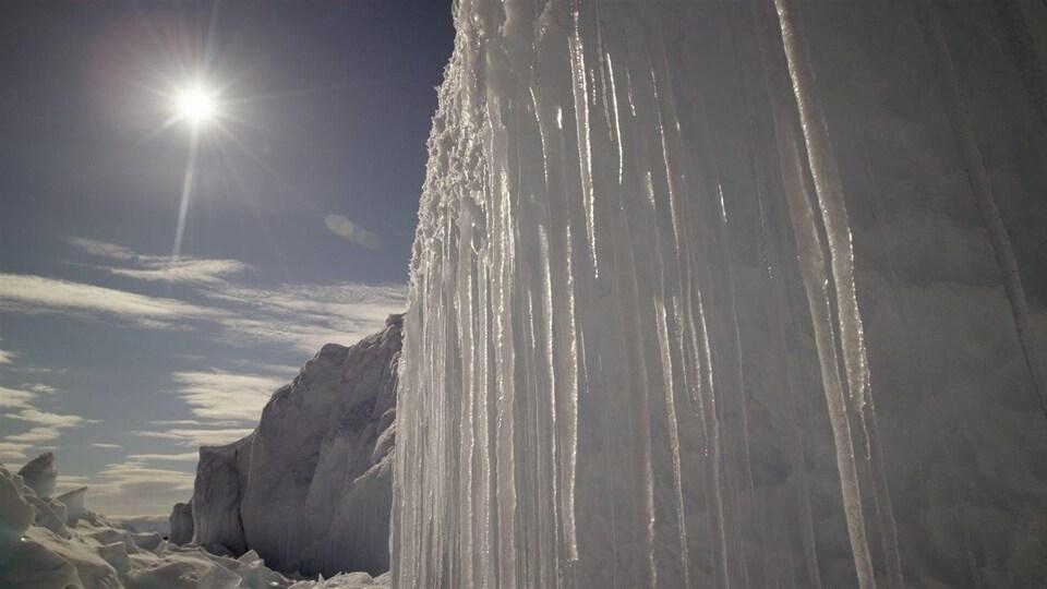 Une portion de la banquise de l'Arctique.