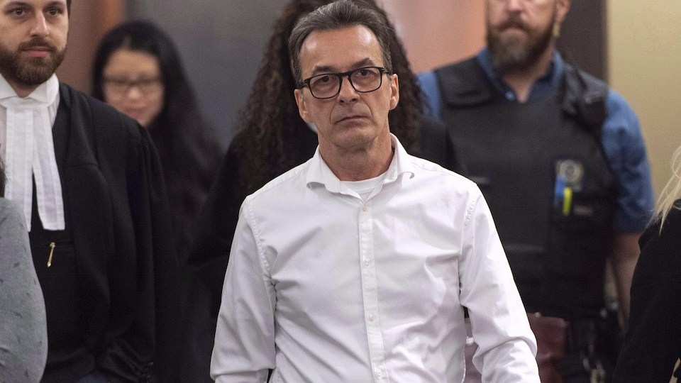 Michel Cadotte à sa sortie du palais de justice le 7 janvier 2019