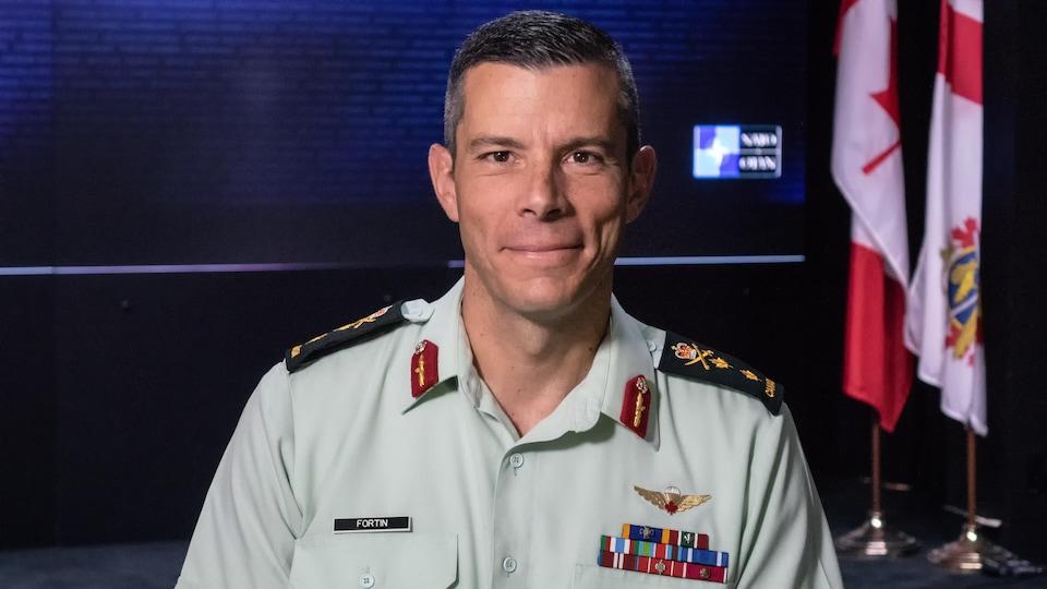 Le major-général Dany Fortin des Forces armées canadiennes.