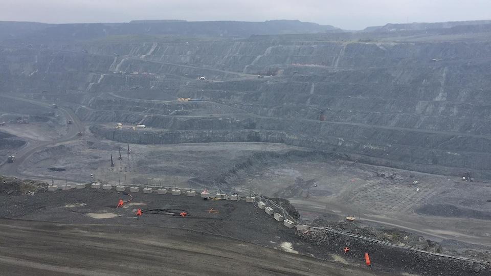 Fosse de la mine Canadian Malartic