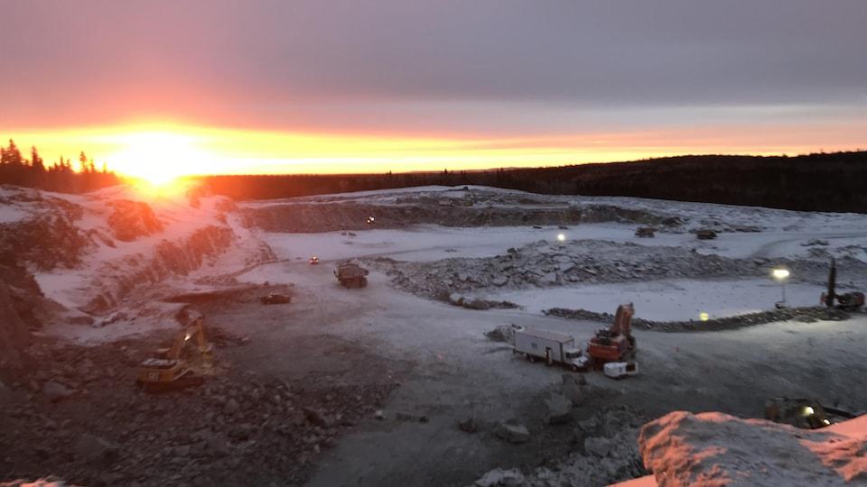 La mine North American Lithium de La Corne.