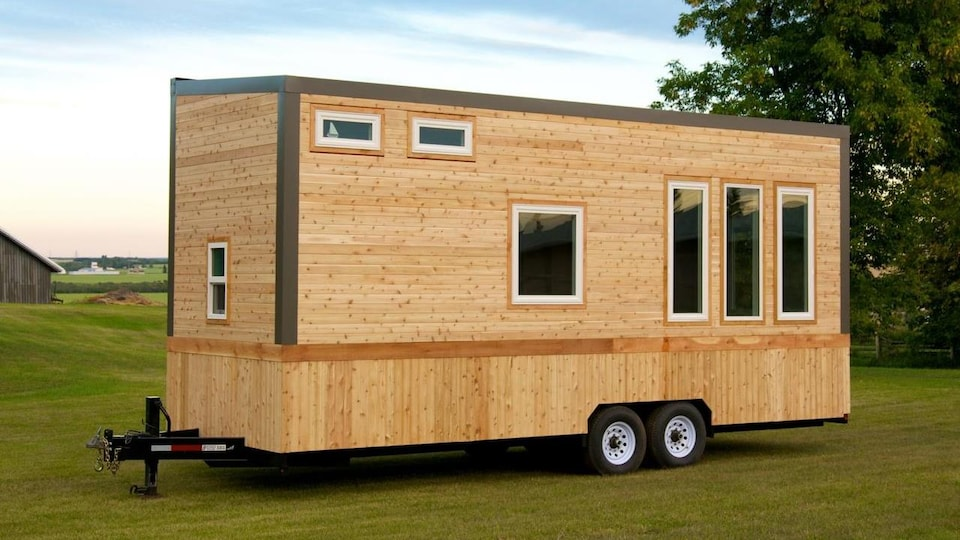 Une mini-maison sur roues