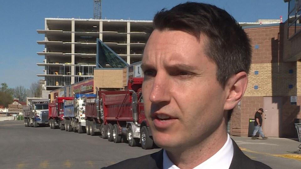 Le ministre québécois des Transports, André Fortin