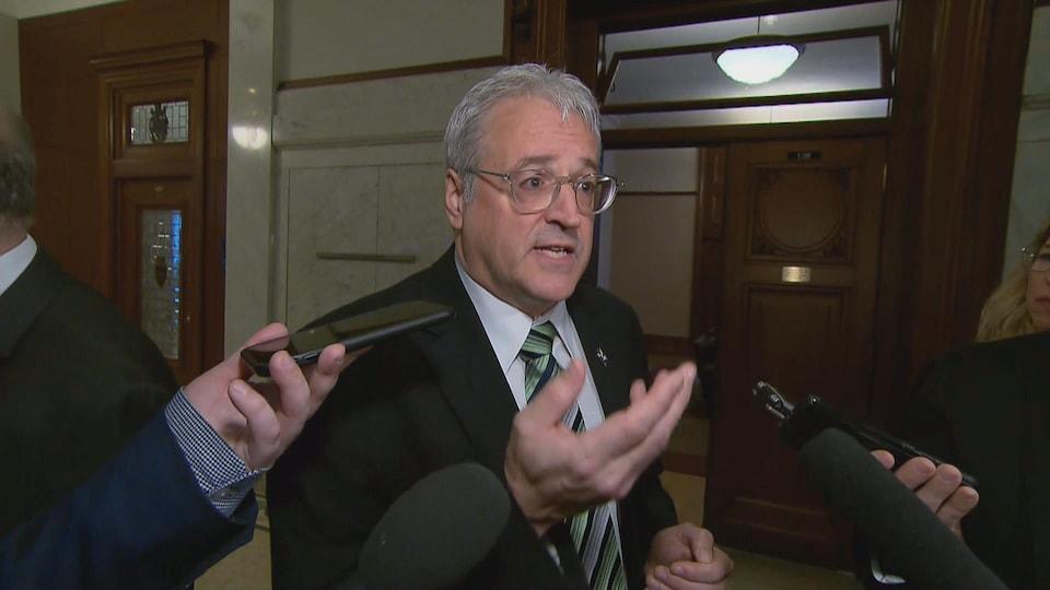 Le ministre Pierre Dufour.
