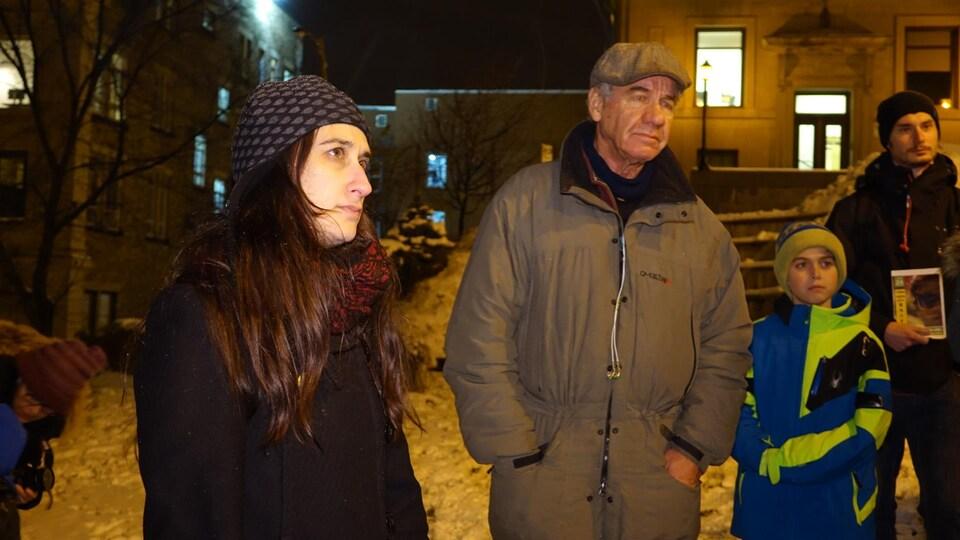 Mireille Elchacar, lors de la 100e vigile pour Raif Badawi à Sherbrooke