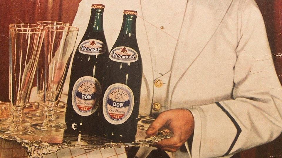 Publicité de la bière Dow de la première moitié du 20e siècle.