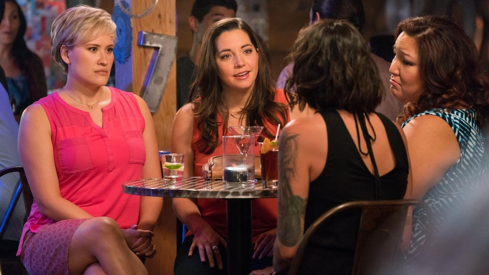 Les quatre protagonistes de la série Mohawk Girls