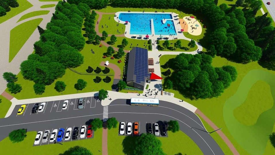 Schéma de la nouvelle piscine