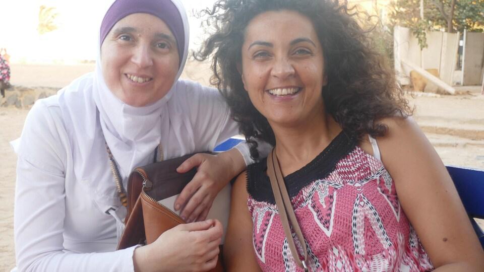 Les écrivaines canadiennes Monia Mazigh et Yara El-Ghadban au Sénégal