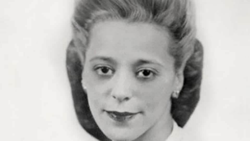 Plan serré du visage de Viola Desmond tiré d'une photo d'époque.
