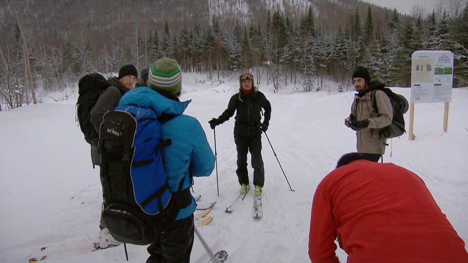 Ski hors piste au Mont Pesac, à Gaspé