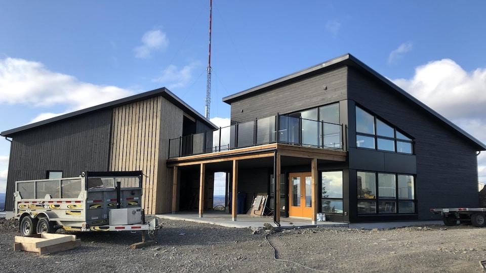 Le nouveau pavillon d'accueil nouvellement construit