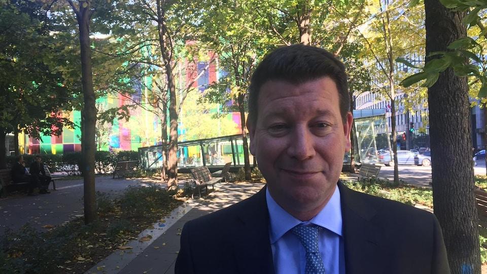 Le président de Montréal International, Hubert Bolduc