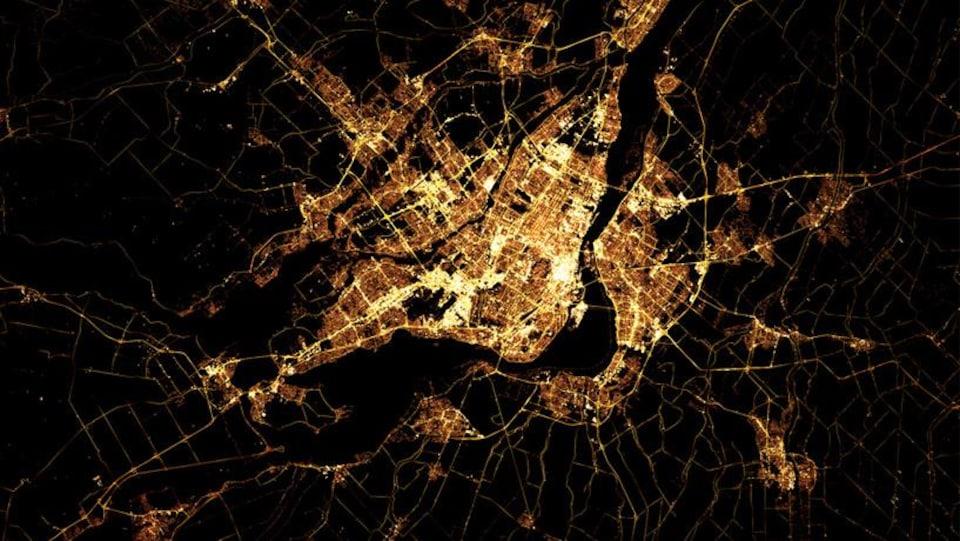 Montréal vue de l'espace