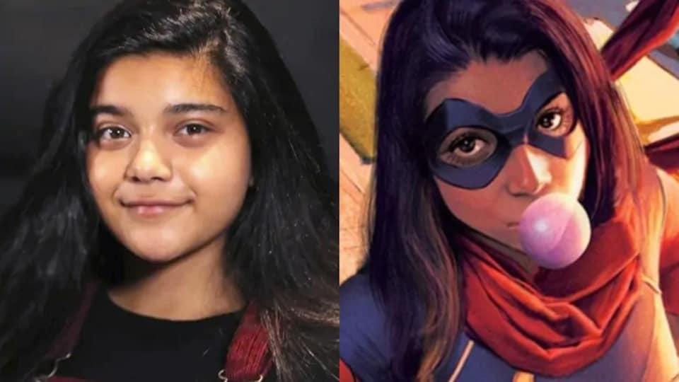 Le portrait d'une jeune fille à côté du portrait d'une super-héroïne .