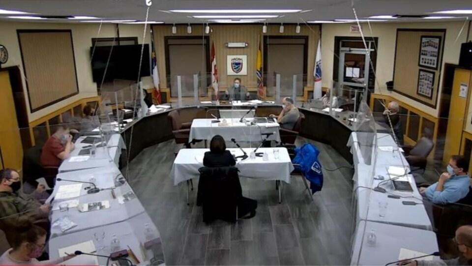 Réunion du conseil municipal de Tracadie