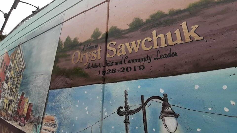 Une murale dédiée à la mémoire d'Oryst Sawchuk.