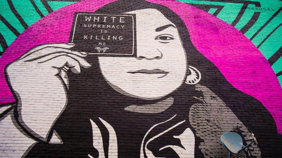 La murale de Jessica Sabogal dans Saint-Henri, à Montréal